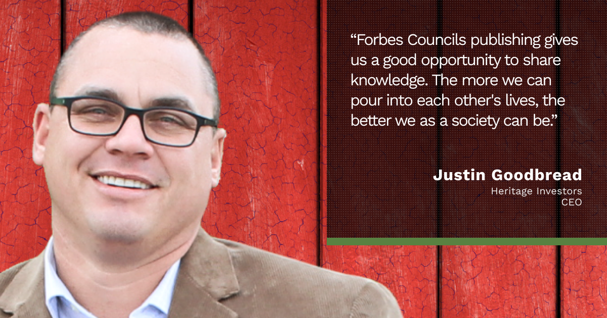 Forbes Finance Council member Justin Goodbread