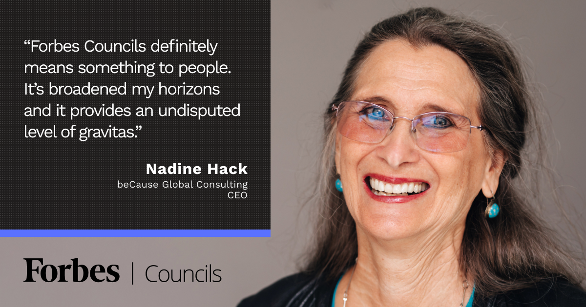 Forbes Coaches Council member Nadine Hack