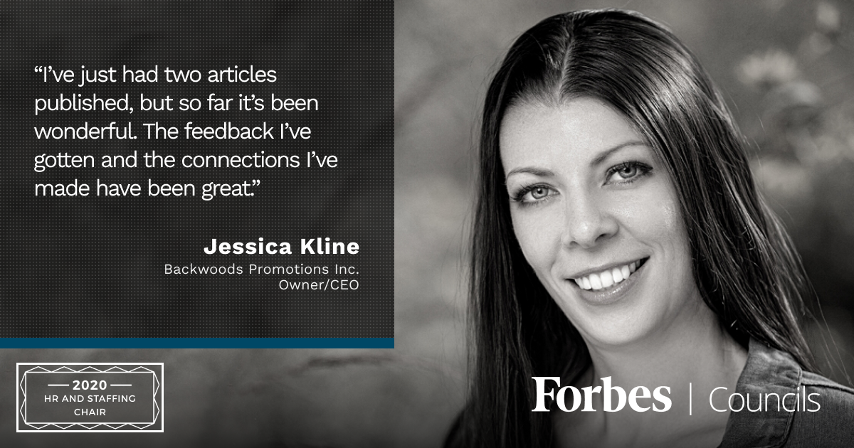 Jessica Kline is Forbes Business Council HR and Staffing Group Chair