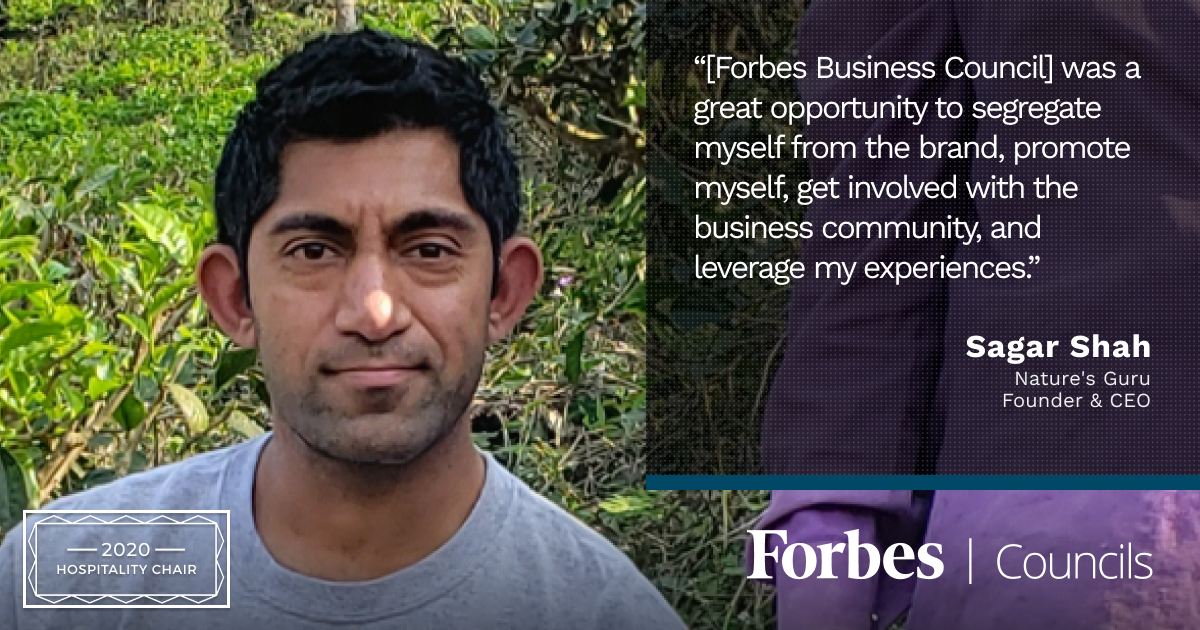 Sagar Shah is Forbes Business Council Hospitality Chair