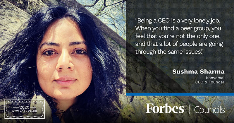 Sushma Sharma Is Forbes Technology Council New York Group Chair