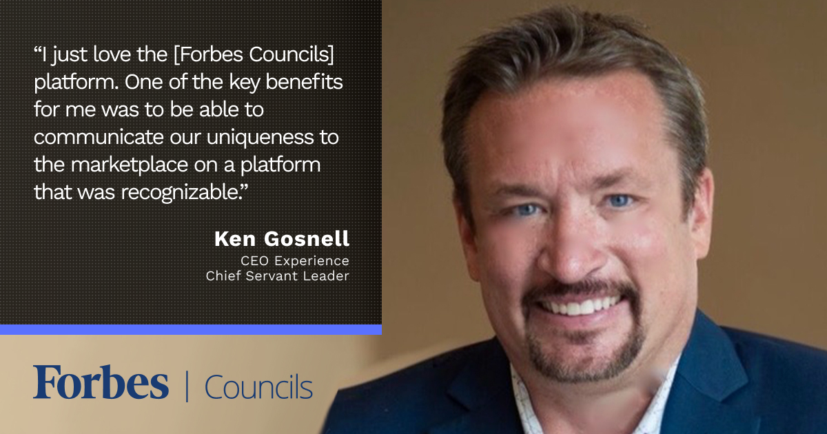 Forbes Councils Publishing Helps Ken Gosnell Stay on Top of Business Trends