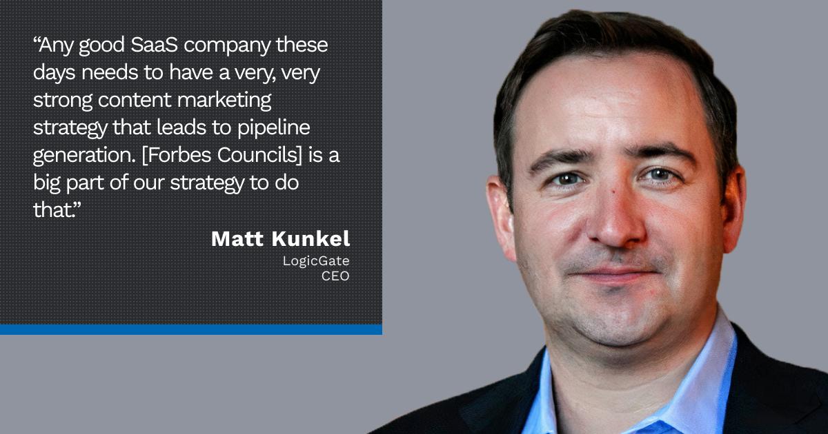 Forbes Technology Council member Matt Kunkel