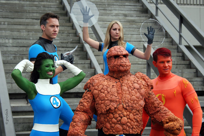 Fantastic Four Cosplayers Body Paint
