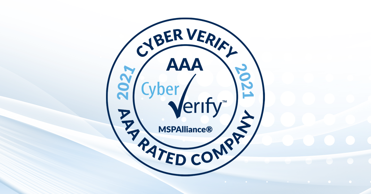 2021 cyber verify AAA rated company