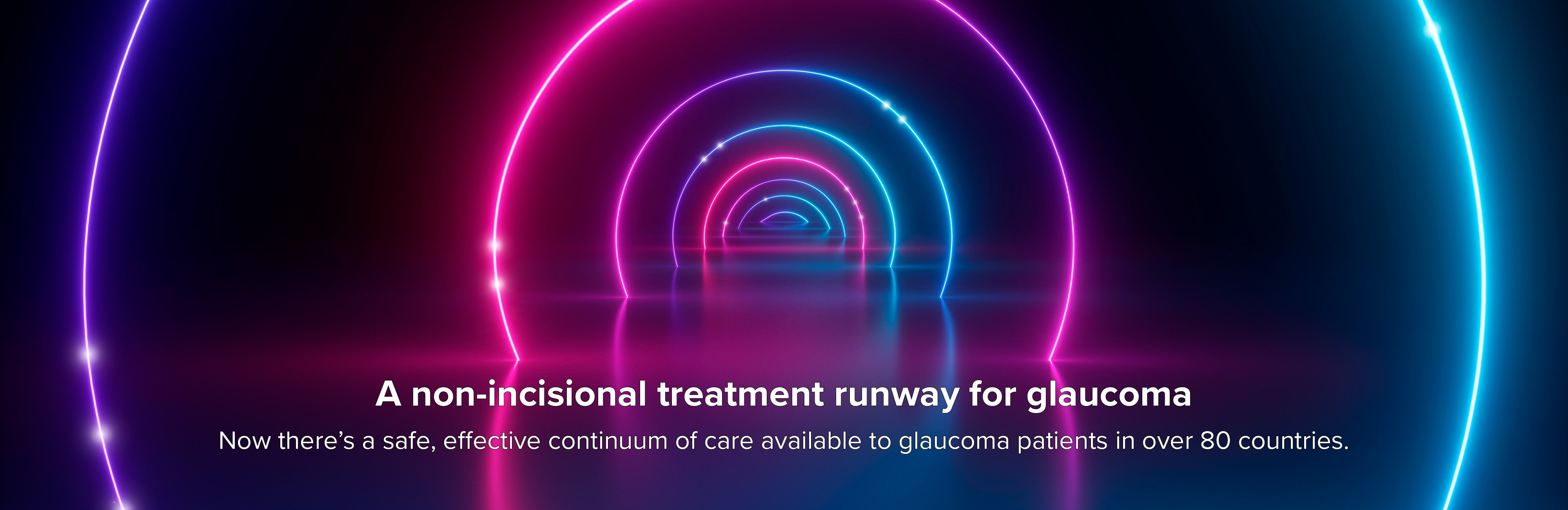 A non-incisional treatment runway for glaucoma