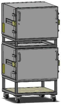 Figure 4. Stacking thermal chambers doubles available floor space.