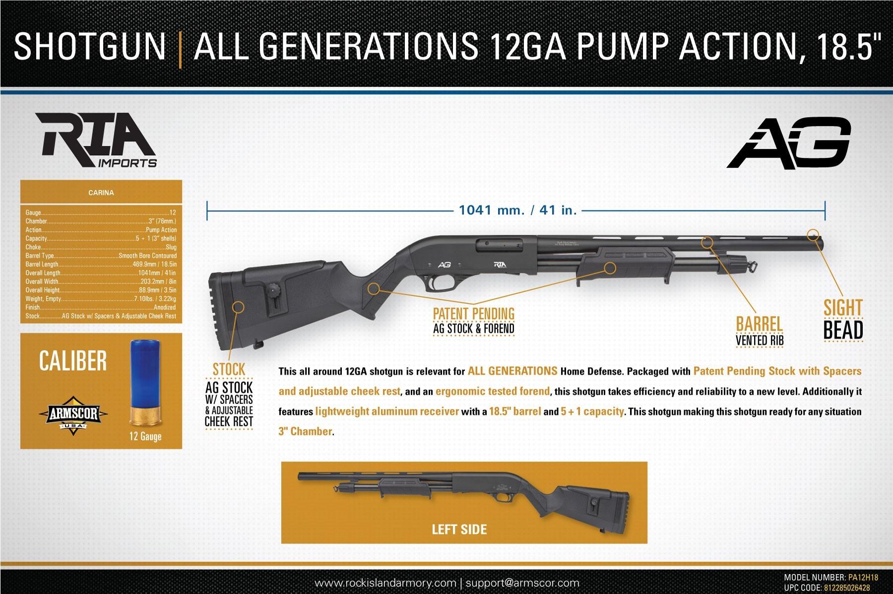 All Generations 12ga Pump Action 18 5 Shotgun