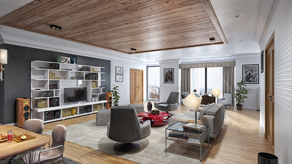 3D Interior Rendering - Premium Package - Order Now