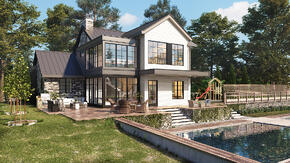 Custom 3D Exterior Rendering Services - Residential - House Rendering_-2