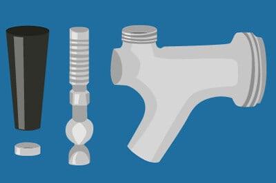Parts of a Standard Beer Faucet - A Handy Diagram