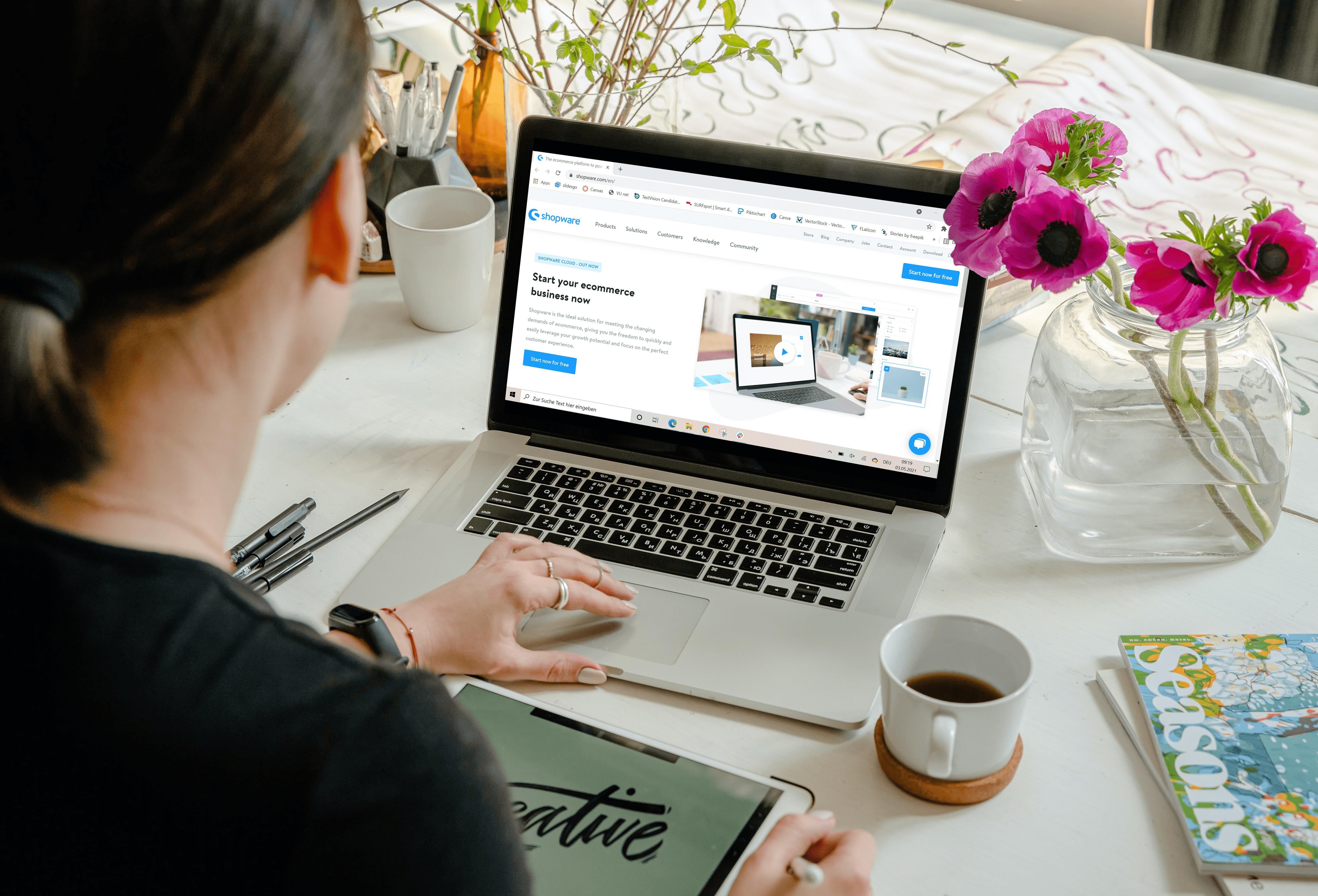 create shopware webshop 1-min