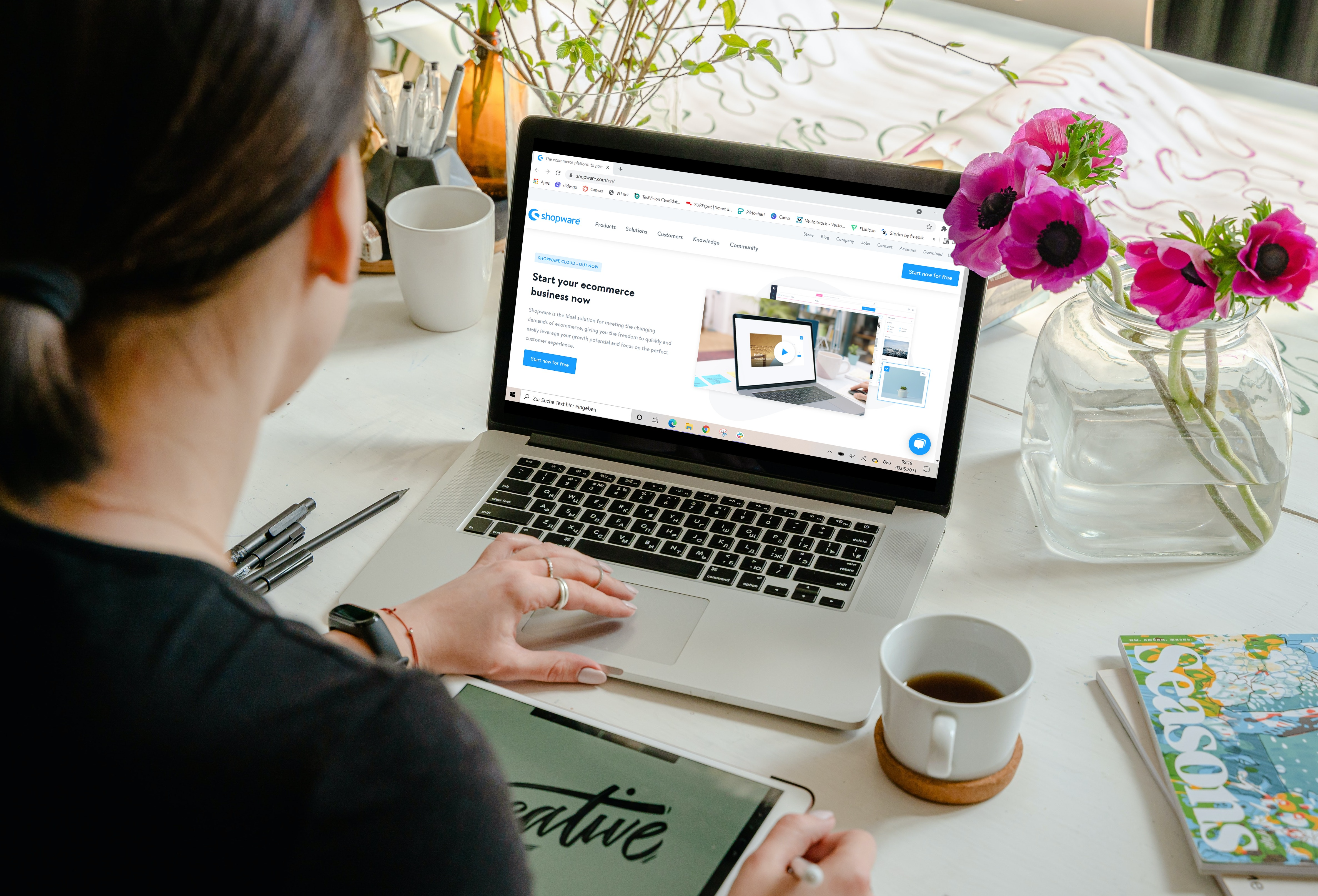 create shopware webshop 1
