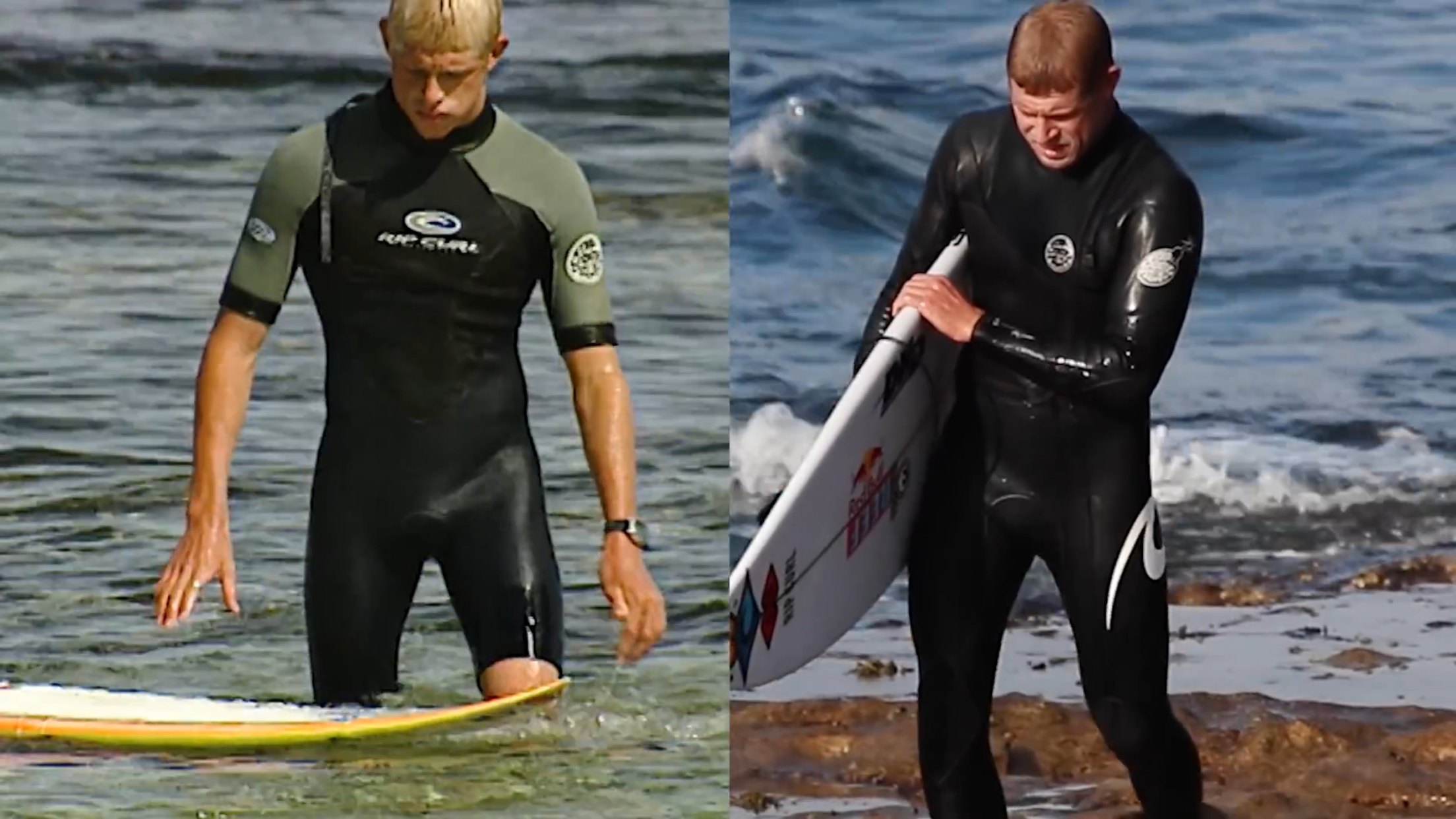 Mick Fanning contrasted in Triptych.
