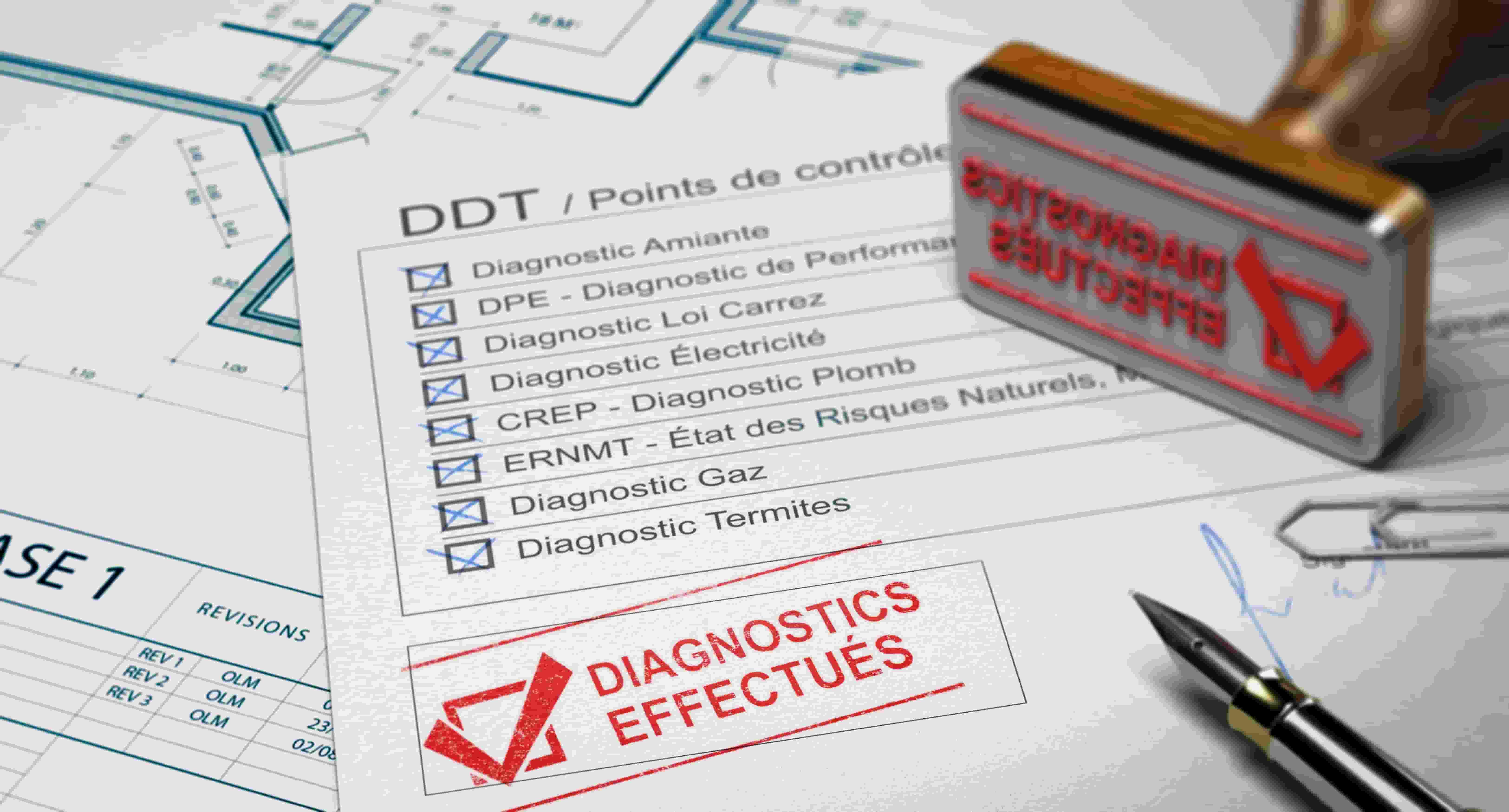 Dossier de diagnostic technique, certifiant que les diagnostics immobiliers sont bien effectués