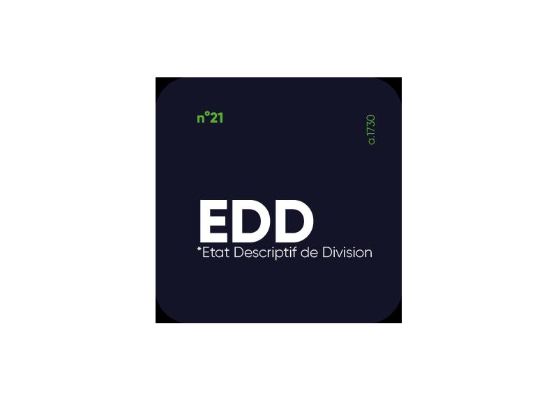 etat descriptif de division EDD