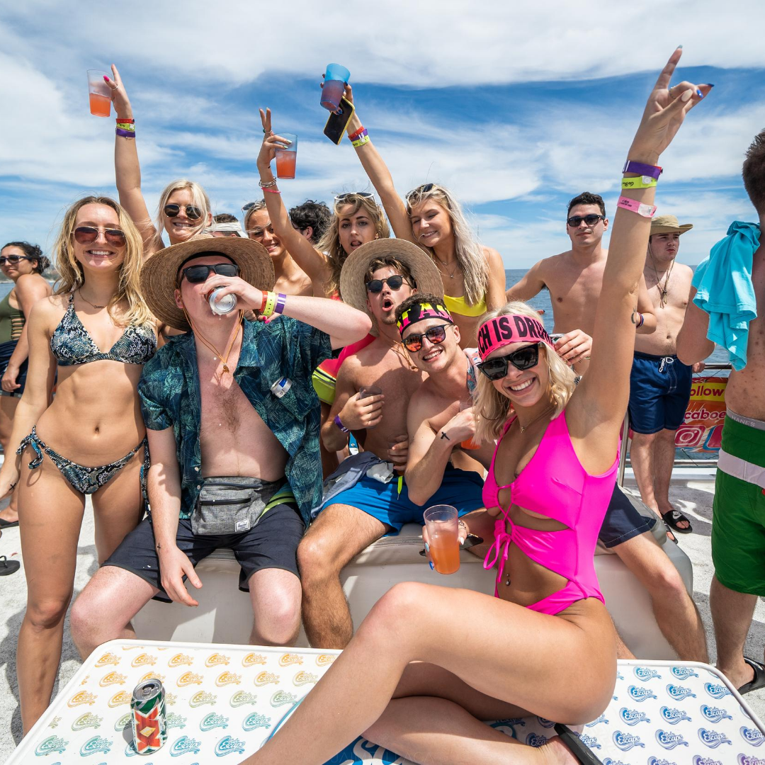 Cabo San Lucas Spring Break booze cruise