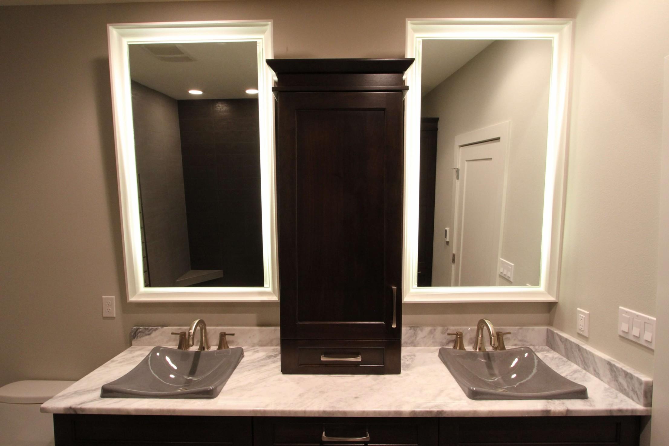 Backlit mirrors
