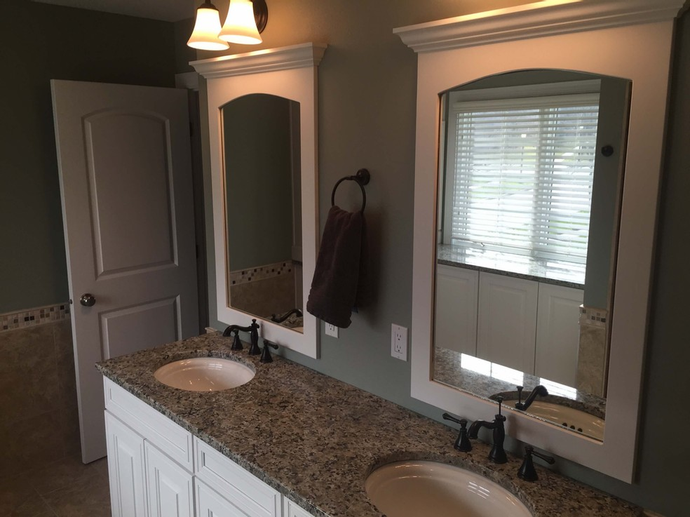 Remodeled master bathroom in Johnston