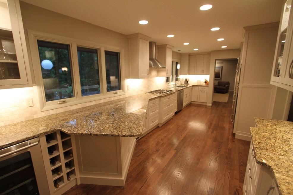 Complete kitchen remodel including new hardwood floors