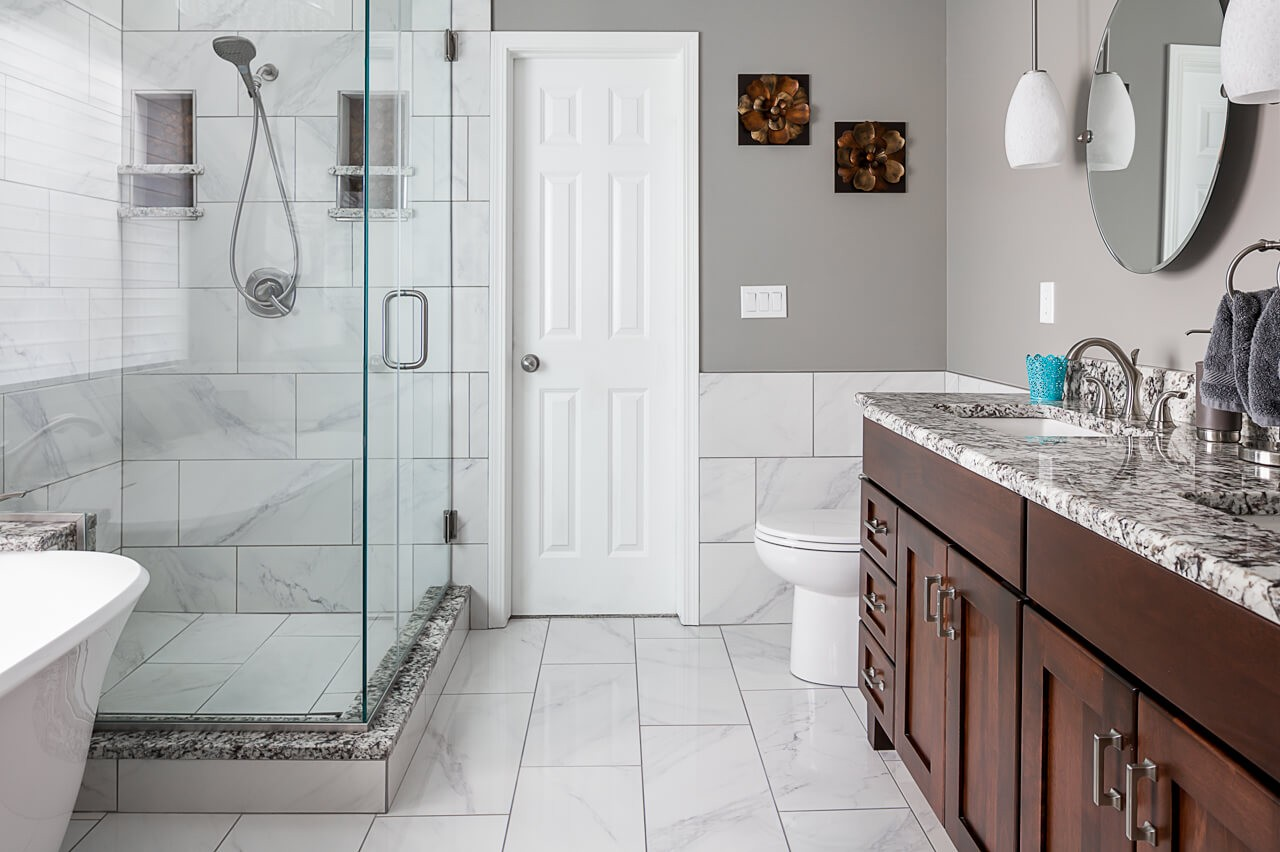 Awesome remodeled tile shower