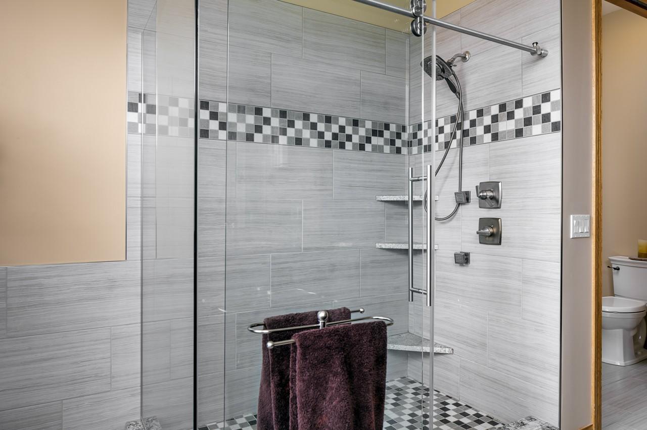 Remodeled Tile Shower
