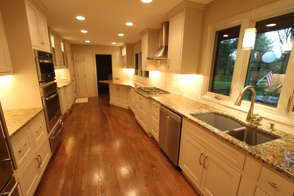 Awesome counter space in this kitchen remodel