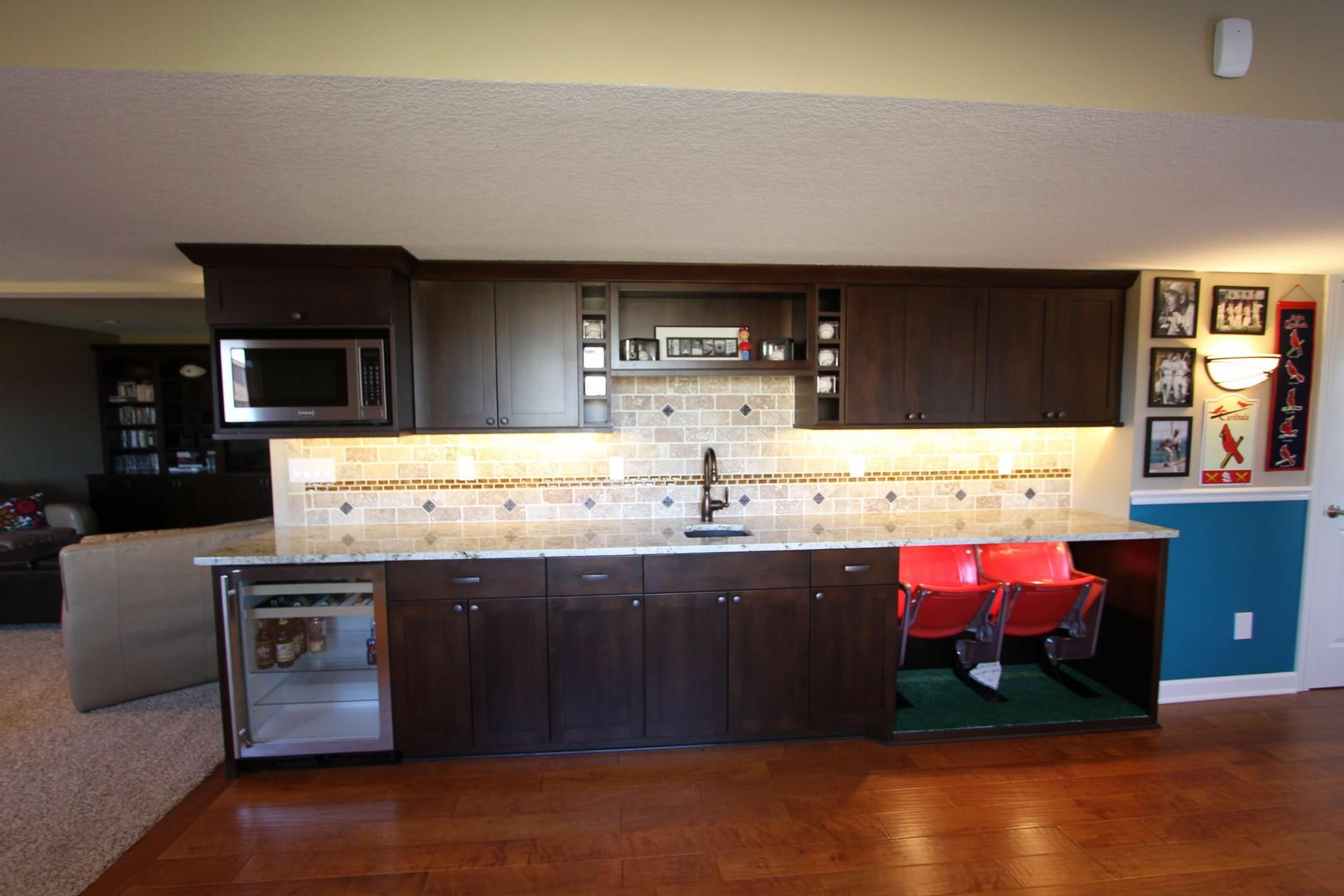 Custom built home bar