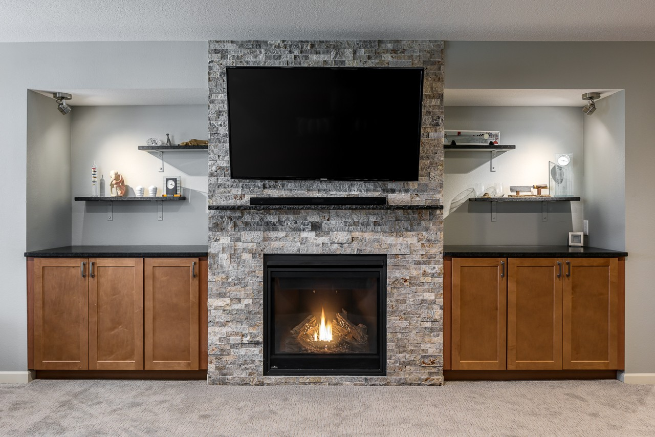 Fireplace and storage