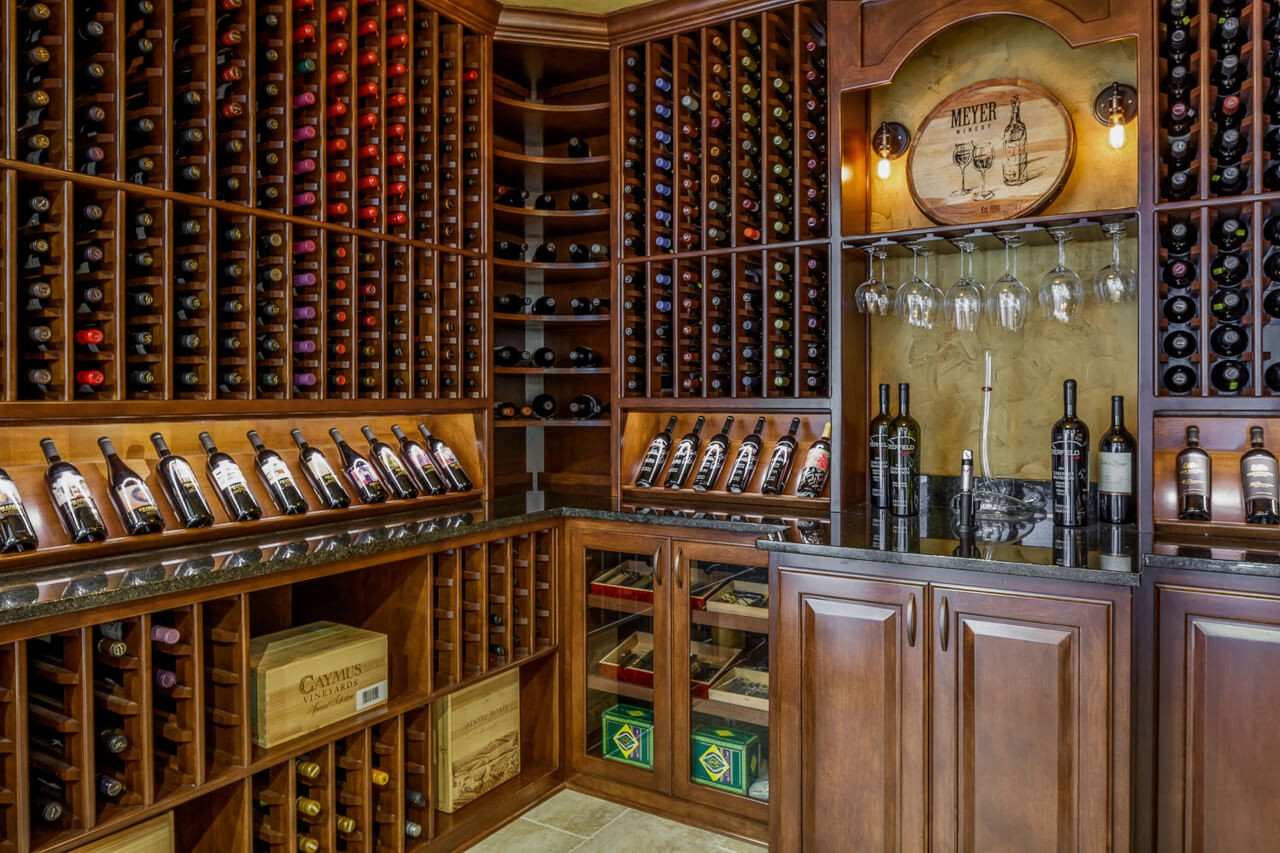 Fabulous wine cellar in this remodel