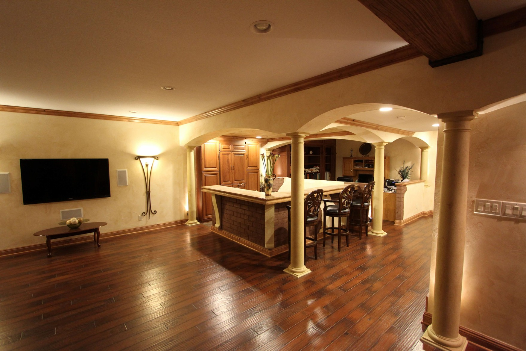 Basement remodel in West Des Moines