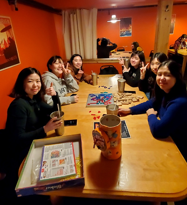 GV Victoria students hang out in a Boardgame Cafe