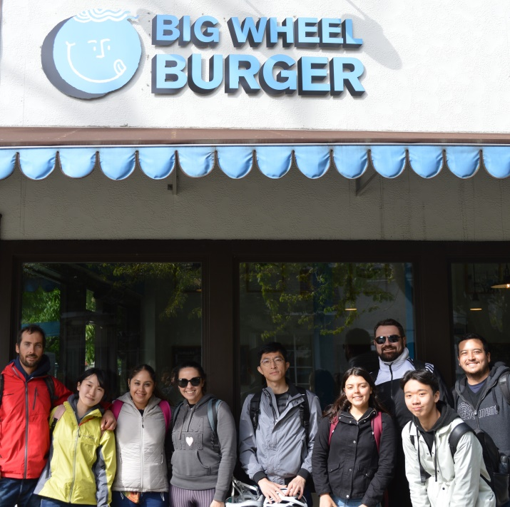 GV Victoria students at Big Wheel Burger