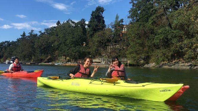 GV Victoria students kayaking near Victoria