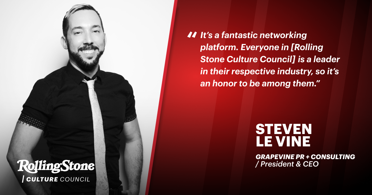 From Fan to Community Member, Rolling Stone Culture Council Brings Steven Le Vine Full Circle