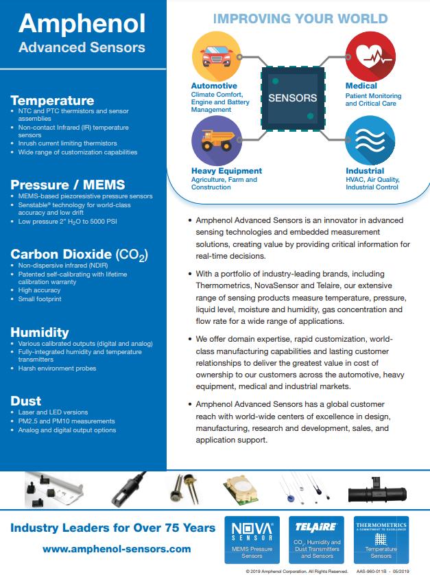 Sensor Capabilities Overview | Amphenol Advanced Sensors - Brochure