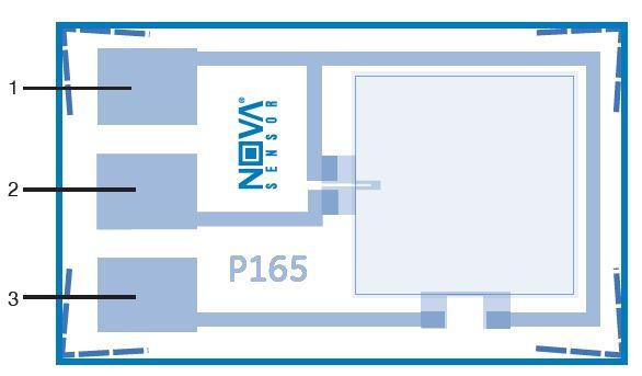 NovaSensor P165 | 3F Medical Absolute Pressure Sensor Die