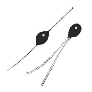Thermometrics NTC Thermistors | Glass Type B - Glass-Coated Bead