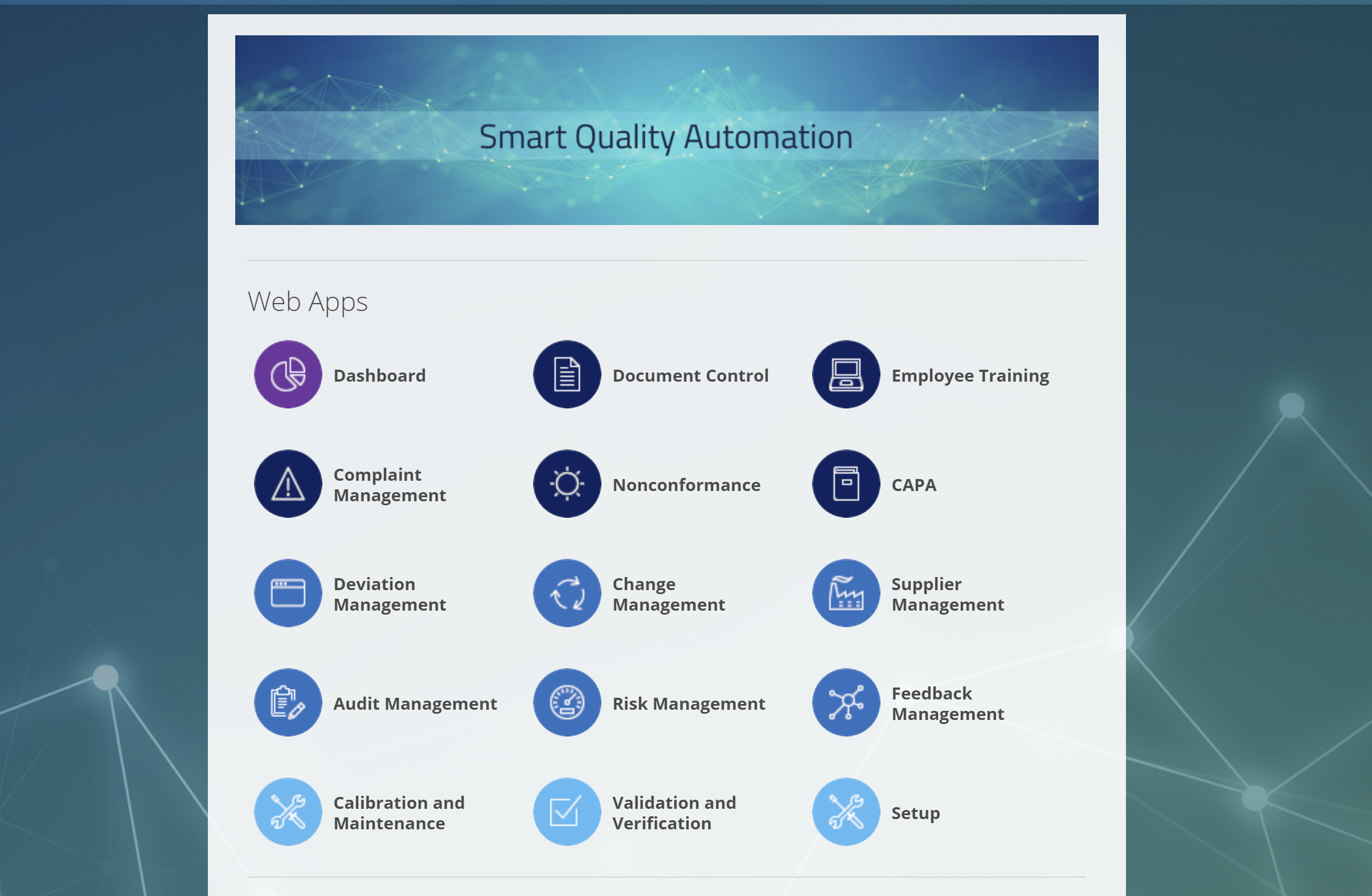 Intellect S Quality Management System Software